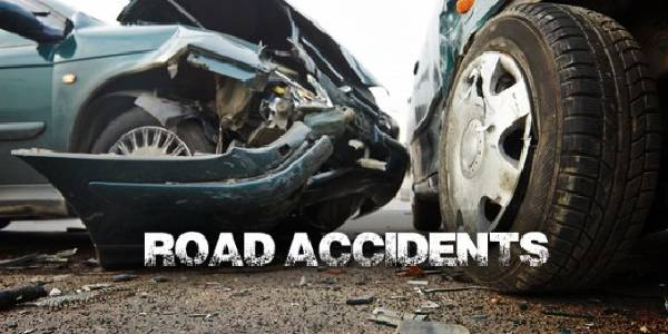 Two Cars Crashed In A Road Accident.